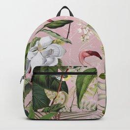HAA-0266 Flamingos Tropical Paradise  Backpack