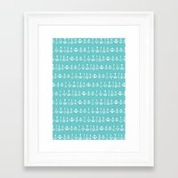anchors Framed Art Prints featuring Anchors by larlener