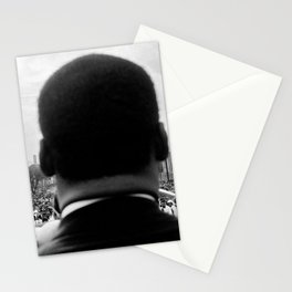 Civil Rights Selma to Montgomery, African American Rights March, March 65 black and white photograph Stationery Cards