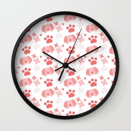 Potato Puppy, Playful Pattern Wall Clock