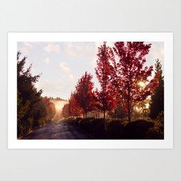Fall Sunrise in the Fog Art Print