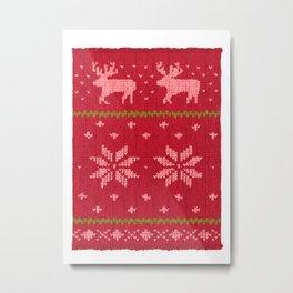 Winter Lovers Christmas Metal Print