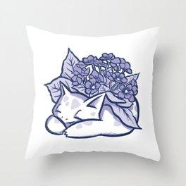 Herbizarre à la violette / Violet Ivysaur Throw Pillow