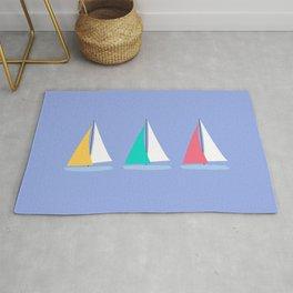 Colorful Summer Sailboats Rug