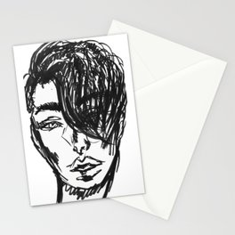 Hair Model Stationery Cards