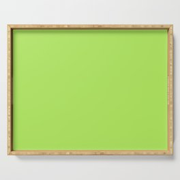 From The Crayon Box – Inch Worm Green - Bright Lime Green Solid Color Serving Tray