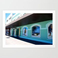 Surf Shop Manly Art Print