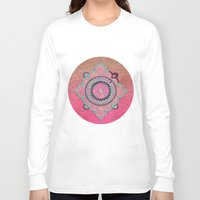 india Long Sleeve T-shirts featuring India Pink by LebensART