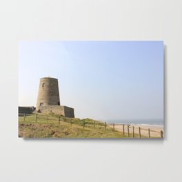 Bamburgh Castle grounds Metal Print