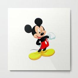 Funny Mickey Metal Print