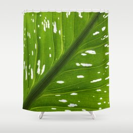 Spotted with White: Leaf Shower Curtain