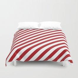 Candy Cane - Christmas Illustration Duvet Cover
