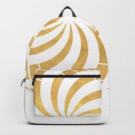 GOLD TORUS circular sacred geometry Backpack