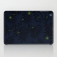 fireflies iPad Cases featuring Fireflies by Helena's universe
