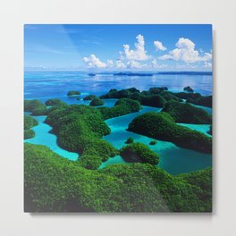 Palau Islands' Tropical Paradise Metal Print