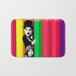 INTROSPENCIL / Pet Shop Boys - Introspective - The Kid Chaplin - Digital Illustration - Pop Art Bath Mat