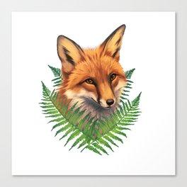 Fern Fox Canvas Print