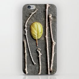 Leaf and twigs iPhone Skin