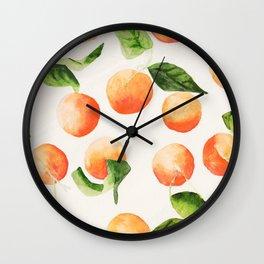 Satsumas Watercolor Painting Wall Clock