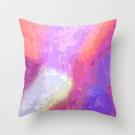Warm Traces Throw Pillow
