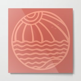 BEACHBALL Metal Print