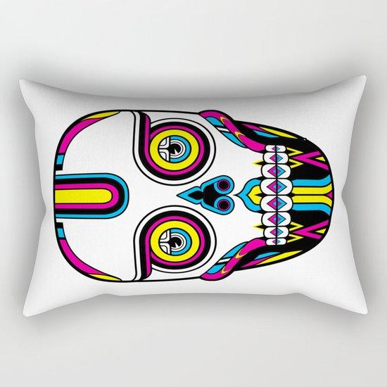 CMYK Skull Rectangular Pillow