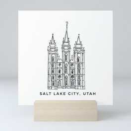 Salt Lake City Temple Sketch Mini Art Print