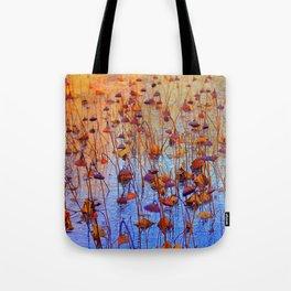Dead Lotus Flower Tote Bag