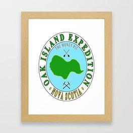 Oak Island Money Pit Expedition Framed Art Print