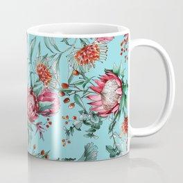 King protea flowers watercolor illustration Coffee Mug