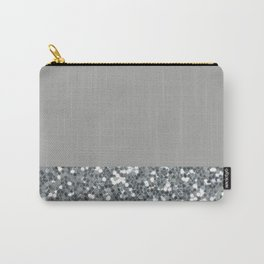 Glitter Colorblock Carry-All Pouch