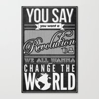 revolution Canvas Prints featuring Revolution.  by Creation Factory