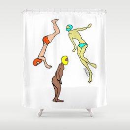 Martians Landing Shower Curtain