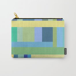 Abstract Blue Mint Green Geometry Carry-All Pouch