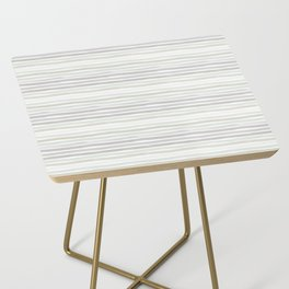 Watercolor Stripes Hues of Grey by Friztin Side Table