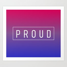 Bisexual Flag v2 - Pride Art Print