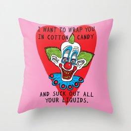 Killer Klown Love Throw Pillow