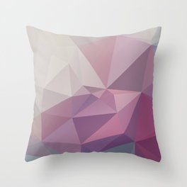 Floral – modern polygram illustration, wall art print Throw Pillow