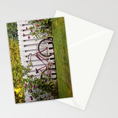 Bike with Fence & Flowers Stationery Cards