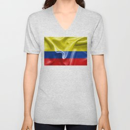 Colombian Flag Unisex V-Neck