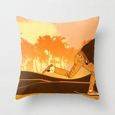 Kick Push.. Coast Throw Pillow