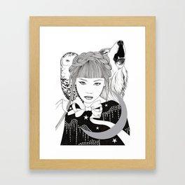 Silver Moon Framed Art Print