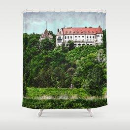 Tyniec Krakow art #tyniec #cracow Shower Curtain