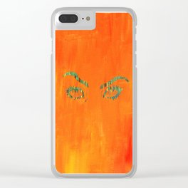 the walls have eyes. Clear iPhone Case
