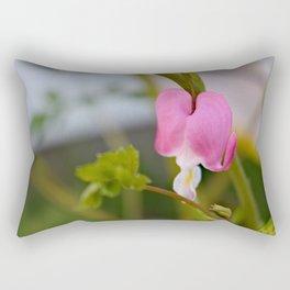 Pink Bleeding Heart Rectangular Pillow