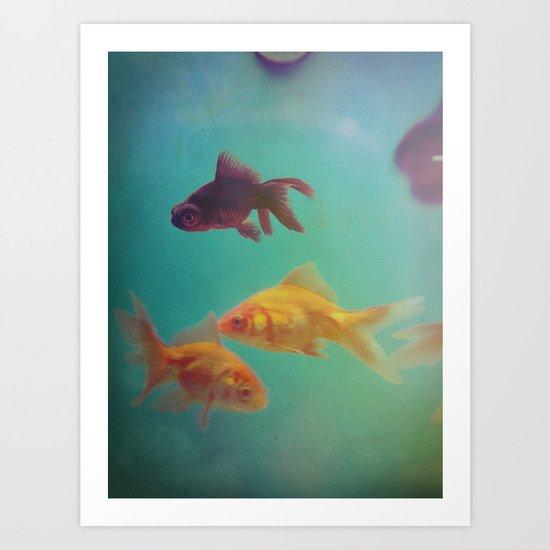 Three Fish More fish Art Print