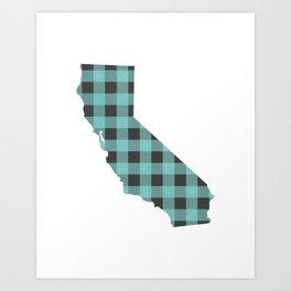 California Plaid in Mint Art Print