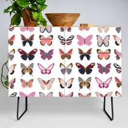 Pink Butterflies Credenza