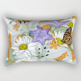 Butterfly Weed and Monarchs Rectangular Pillow