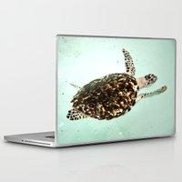 turtle Laptop & iPad Skins featuring Turtle by Sara Jilnö